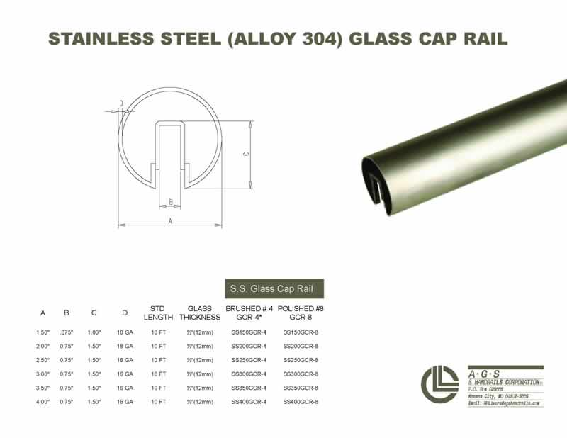 glass cap rails